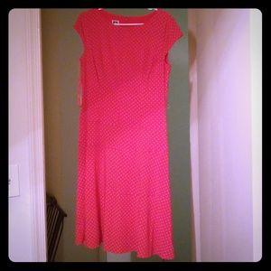ANNE KLEIN Red PolkaDot dress